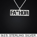Fathor Handmade 925 Sterling Silver Pendant Necklace