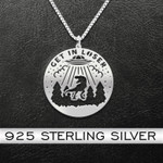 Get In Loser Dinosaur Handmade 925 Sterling Silver Pendant Necklace