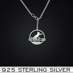 Cat I hate people Handmade 925 Sterling Silver Pendant Necklace