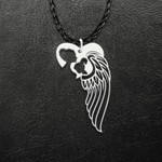 Mom To An Angel Baby Child In Heaven Mother And Daughter Wings Handmade 925 Sterling Silver Pendant Necklace