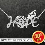 Suicide Prevention Awareness Butterfly Hope Handmade 925 Sterling Silver Pendant Necklace