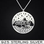 C'est la vie Handmade 925 Sterling Silver Pendant Necklace