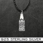 Camping beer because no great camping story Handmade 925 Sterling Silver Pendant Necklace
