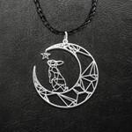 Pet Bunny Rabbit Mom Handmade 925 Sterling Silver Pendant Necklace