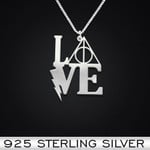 Wizard Love Handmade 925 Sterling Silver Pendant Necklace