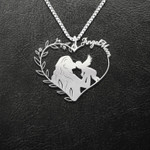 Angel Mom Mother To A Child In Heaven With Wings Handmade 925 Sterling Silver Pendant Necklace