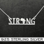 Black Africa Strong Handmade 925 Sterling Silver Pendant Necklace