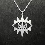 Weed Weed Eye Handmade 925 Sterling Silver Pendant Necklace