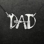 Dad Mr. Fixing It Spanner Hammer Screwdriver Handmade 925 Sterling Silver Pendant Necklace