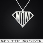 Super mom Handmade 925 Sterling Silver Pendant Necklace