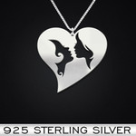 LGBT Handmade 925 Sterling Silver Pendant Necklace
