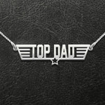 Top dad Handmade 925 Sterling Silver Pendant Necklace