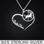 Hunting Heart Mom Handmade 925 Sterling Silver Pendant Necklace