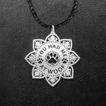 Dog Mom Mandala You Had Me At Woof Handmade 925 Sterling Silver Pendant Necklace
