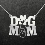 Dog mom paw Handmade 925 Sterling Silver Pendant Necklace