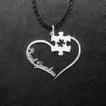 Proud Autism Grandma Handmade 925 Sterling Silver Pendant Necklace