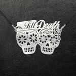 Skull couple till death Handmade 925 Sterling Silver Pendant Necklace