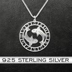 Zodiac Pisces Handmade 925 Sterling Silver Pendant Necklace