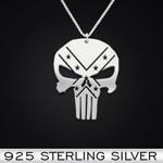 Punisher Rebel Handmade 925 Sterling Silver Pendant Necklace