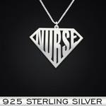 Super Nurse Handmade 925 Sterling Silver Pendant Necklace