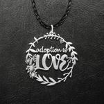 Adoptive Parent Mom Adoption Is Love Handmade 925 Sterling Silver Pendant Necklace