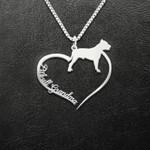 Pitbull Grandma Handmade 925 Sterling Silver Pendant Necklace