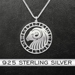 Zodiac Aries Handmade 925 Sterling Silver Pendant Necklace