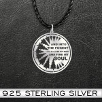 Camping into the forest i go Handmade 925 Sterling Silver Pendant Necklace