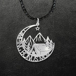 Camping Bonus Mom Mother's Day Gift Handmade 925 Sterling Silver Pendant Necklace