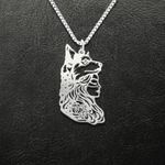 Wilf wolf girl Handmade 925 Sterling Silver Pendant Necklace