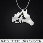 Horseback Riding Horse Dog Rabbit Chicken Handmade 925 Sterling Silver Pendant Necklace