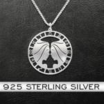 Zodiac Gemini Handmade 925 Sterling Silver Pendant Necklace