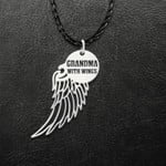 Inheaven Grandma A Piece Of My Heart Are In Heaven Handmade 925 Sterling Silver Pendant Necklace