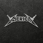 Merica Metal Band Handmade 925 Sterling Silver Pendant Necklace