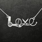 Hair Stylist Love Handmade 925 Sterling Silver Pendant Necklace