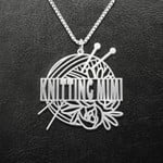 Knitting Mimi Knitting Kits And Flowers Handmade 925 Sterling Silver Pendant Necklace