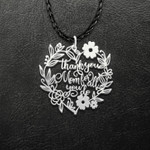 Mother In Heaven Thank You Mom For All You Do Handmade 925 Sterling Silver Pendant Necklace