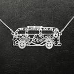 Hippie vans love Handmade 925 Sterling Silver Pendant Necklace