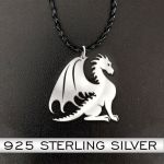 Dragon 925 necklace Handmade 925 Sterling Silver Pendant Necklace