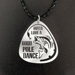 Fishing Gotta Love A Good Pole Dance Fish And Bait Handmade 925 Sterling Silver Pendant Necklace