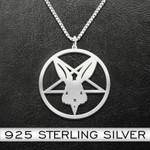 Evil Rabbit Necklace Handmade 925 Sterling Silver Pendant Necklace