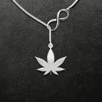Weed Infinity Handmade 925 Sterling Silver Pendant Necklace