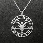 All Hail Satan Handmade 925 Sterling Silver Pendant Necklace