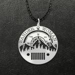 Wander Woman Jeep Handmade 925 Sterling Silver Pendant Necklace