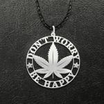 Don't worry Be happy Handmade 925 Sterling Silver Pendant Necklace