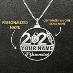 Proud To Be Vaccinated Customize Vaccine Brand Name Handmade 925 Sterling Silver Pendant Necklace