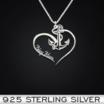 Navy Mom Handmade 925 Sterling Silver Pendant Necklace