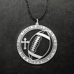 Football What You Do With It Is Your Gift To God Handmade 925 Sterling Silver Pendant Necklace