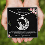 Cat Moon Handmade 925 Sterling Silver Pendant Necklace