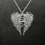 Suicide Prevention Semicolon Wings You Matter Handmade 925 Sterling Silver Pendant Necklace